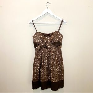 BCBG Strapless Leopard Print Dress